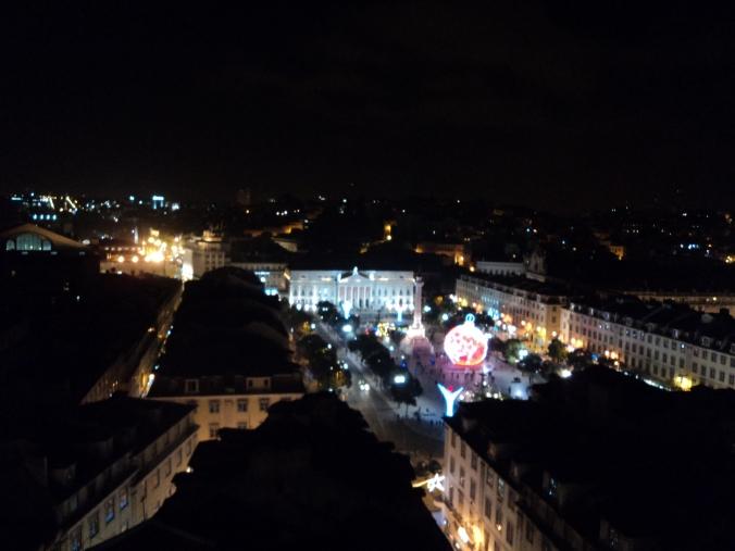 Praça dos Restauradores - vista do alto do Elevador de Santa Justa.