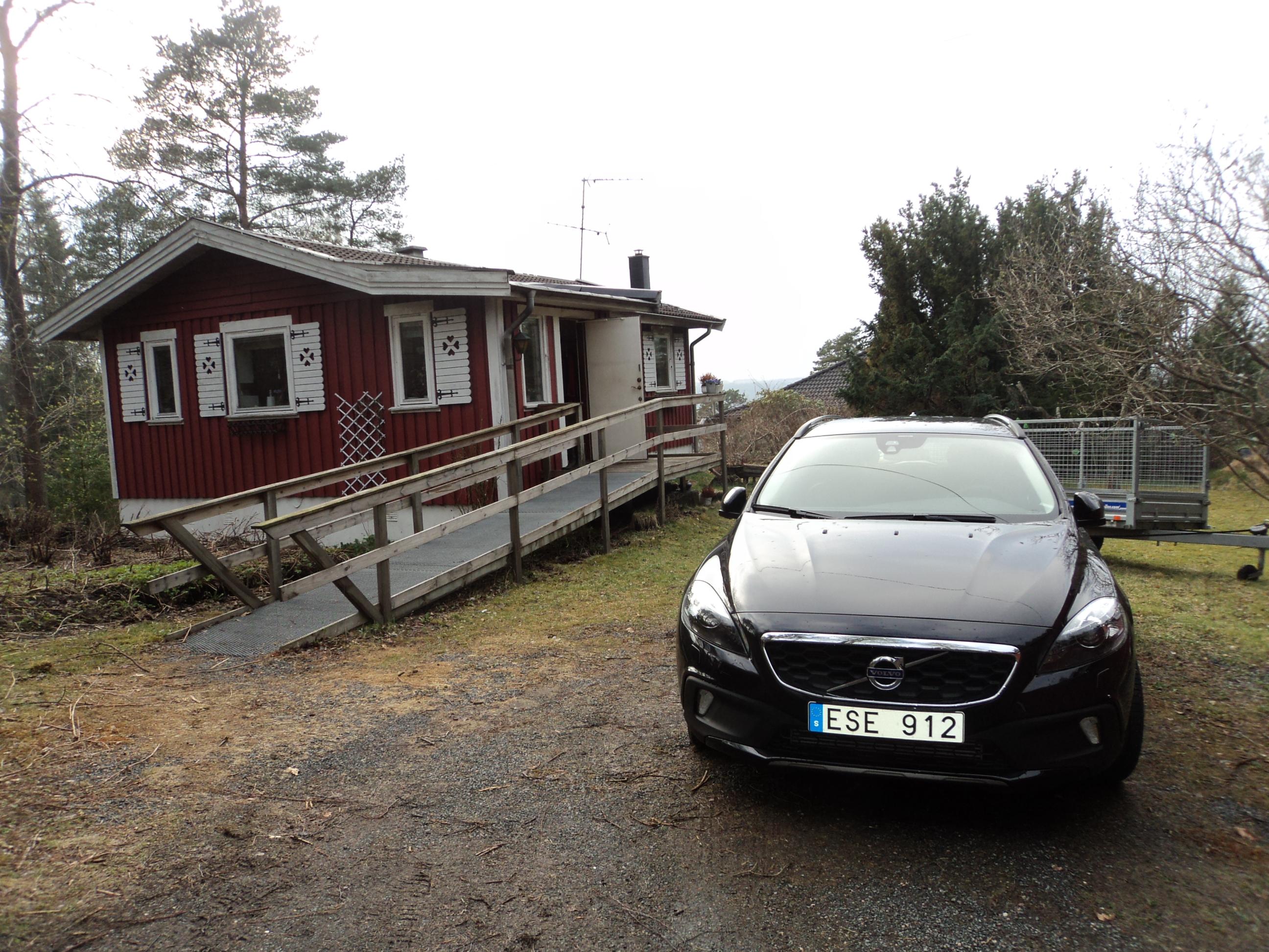 A villa e o Volvo!