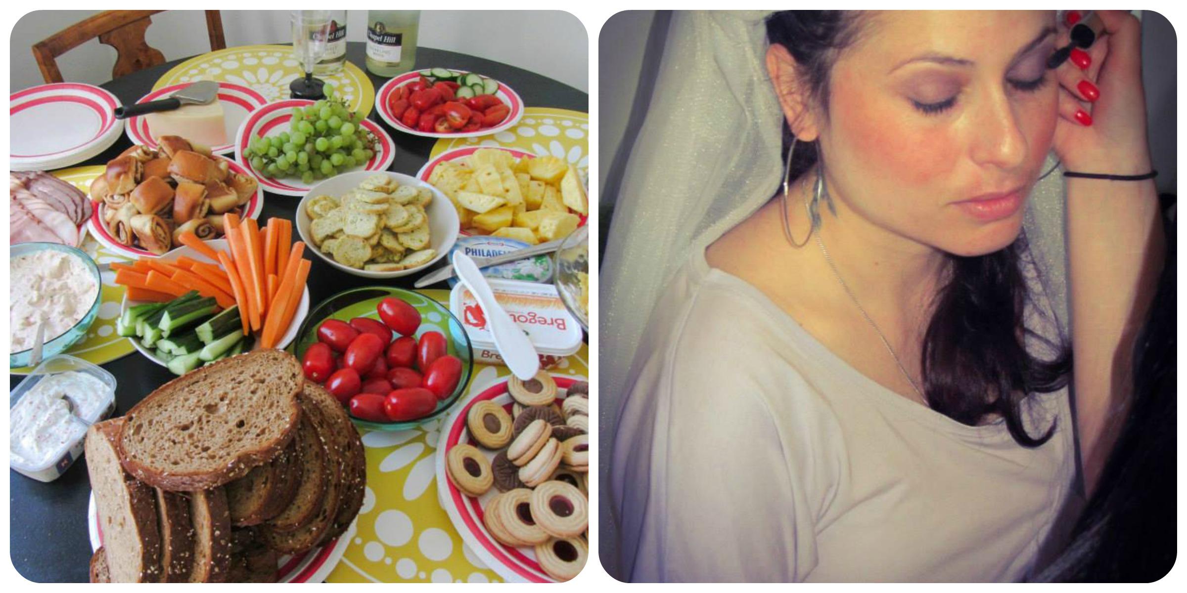 Champagne frukost e produção