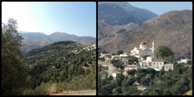 Essas foram pelo caminho... Creta tem montanhas de até 2.500m!